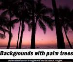Raster clipart - Fotolia - Backgrounds with palm trees [JPG]