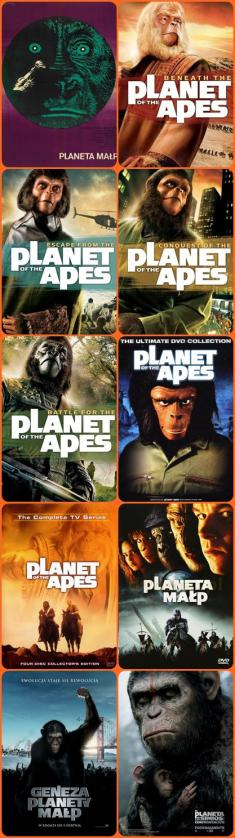 PLaneta Małp - PLanet of the Apes (1968-2014) [10 Części] [DVDRip] [TVRip] [RMVB] [XviD] [Lektor PL] [D.T.m1125]